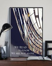 Librarian We Are Not Alone  11x17 Poster lifestyle-poster-2