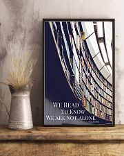 Librarian We Are Not Alone  11x17 Poster lifestyle-poster-3