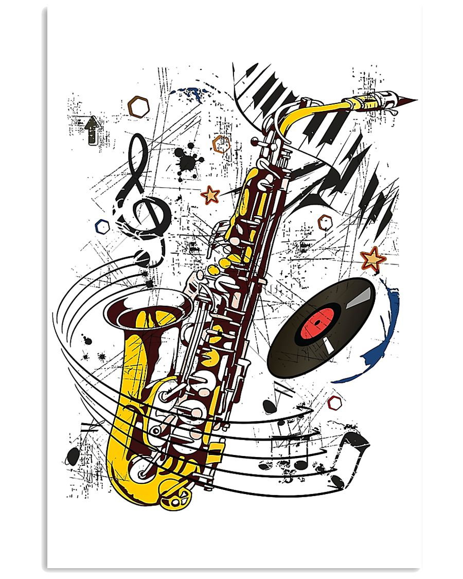 Saxophone Music  11x17 Poster