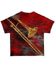 Trombone Art Red All-over T-Shirt back