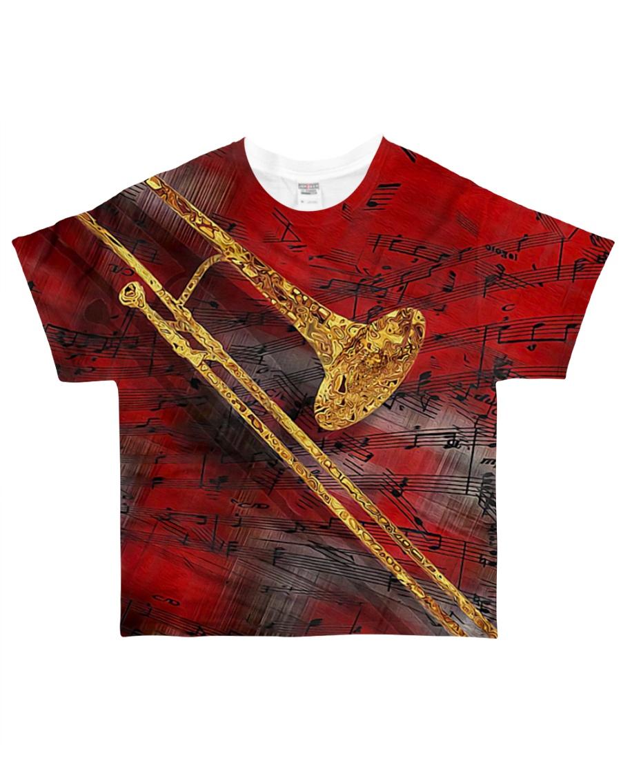 Trombone Art Red All-over T-Shirt