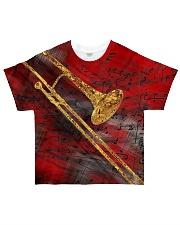 Trombone Art Red All-over T-Shirt front
