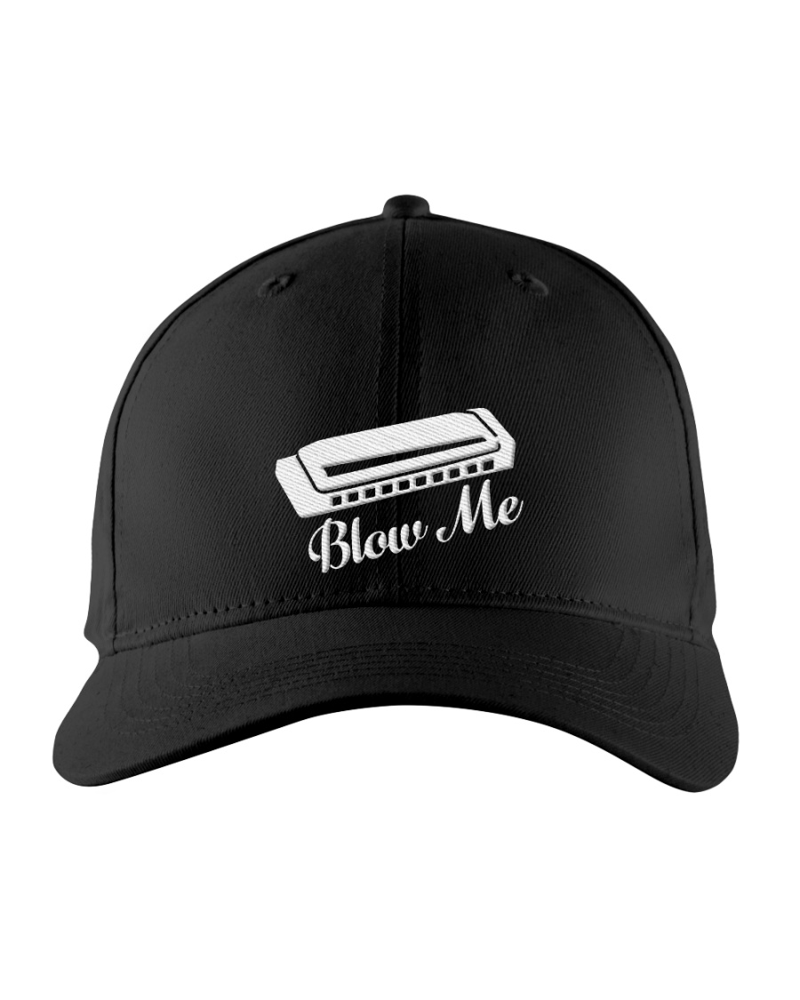Blow Harmonica Embroidered Hat