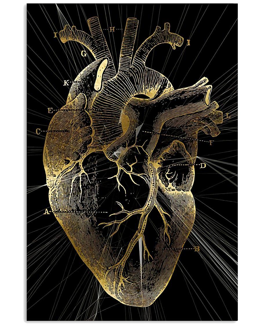 Art Gold Heart Cardiologist 11x17 Poster