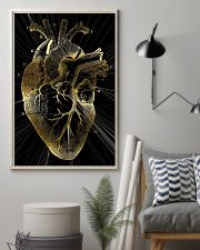 Art Gold Heart Cardiologist 11x17 Poster lifestyle-poster-1
