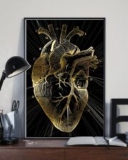 Art Gold Heart Cardiologist 11x17 Poster lifestyle-poster-2