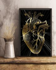 Art Gold Heart Cardiologist 11x17 Poster lifestyle-poster-3