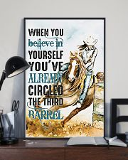 Horse Girl You've Already Circled The Third Barrel 11x17 Poster lifestyle-poster-2