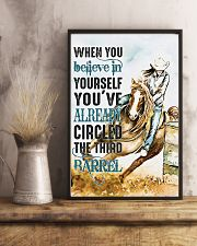 Horse Girl You've Already Circled The Third Barrel 11x17 Poster lifestyle-poster-3