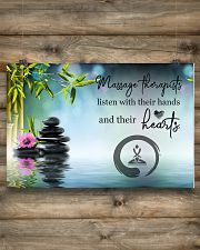 Massage Therapists listen with their hands 24x16 Poster poster-landscape-24x16-lifestyle-15