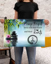 Massage Therapists listen with their hands 24x16 Poster poster-landscape-24x16-lifestyle-20