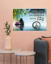 Massage Therapists listen with their hands 24x16 Poster poster-landscape-24x16-lifestyle-22