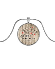 Nurse She will not fall Necklace Metallic Circle Necklace front