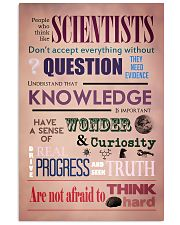 Science People Who Think Like Scientists 11x17 Poster front