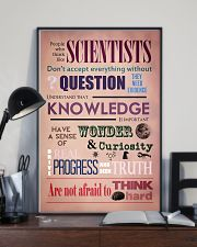 Science People Who Think Like Scientists 11x17 Poster lifestyle-poster-2