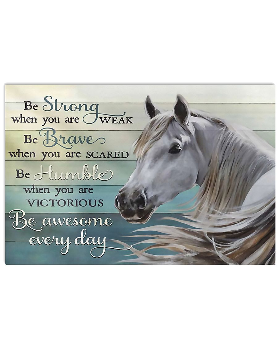 Horse Girl Be Awesome Everyday 17x11 Poster