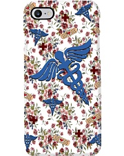 Beautiful Floral Caduceus CNA Phone Case i-phone-7-case