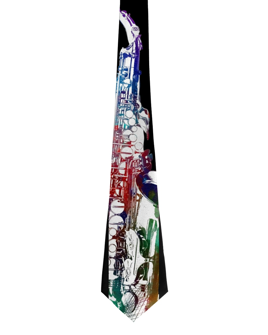 Colorful Saxophone Tie