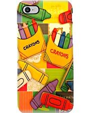 Teacher Color Crayons Phone Case i-phone-8-case