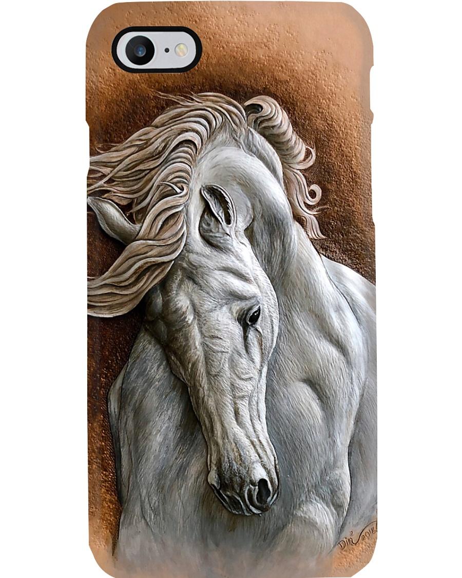Horse Girl White Horse Phone Case