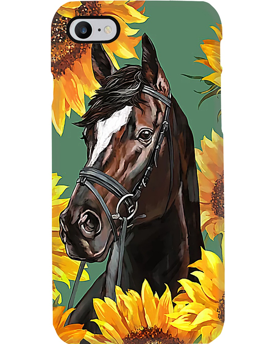 Horse girl - Sunflower Phone Case