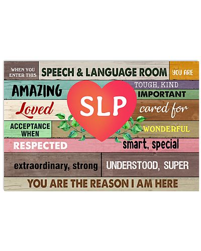SLP when you enter this speech language room