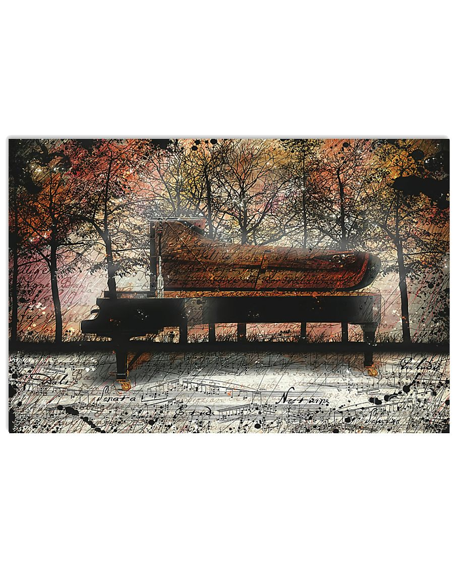 Pianist PIano in the forest Poster 17x11 Poster