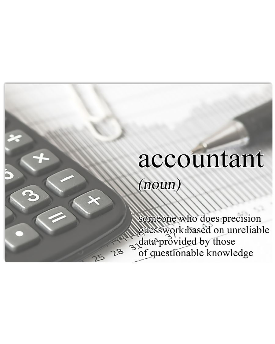 Accountant Definition 17x11 Poster