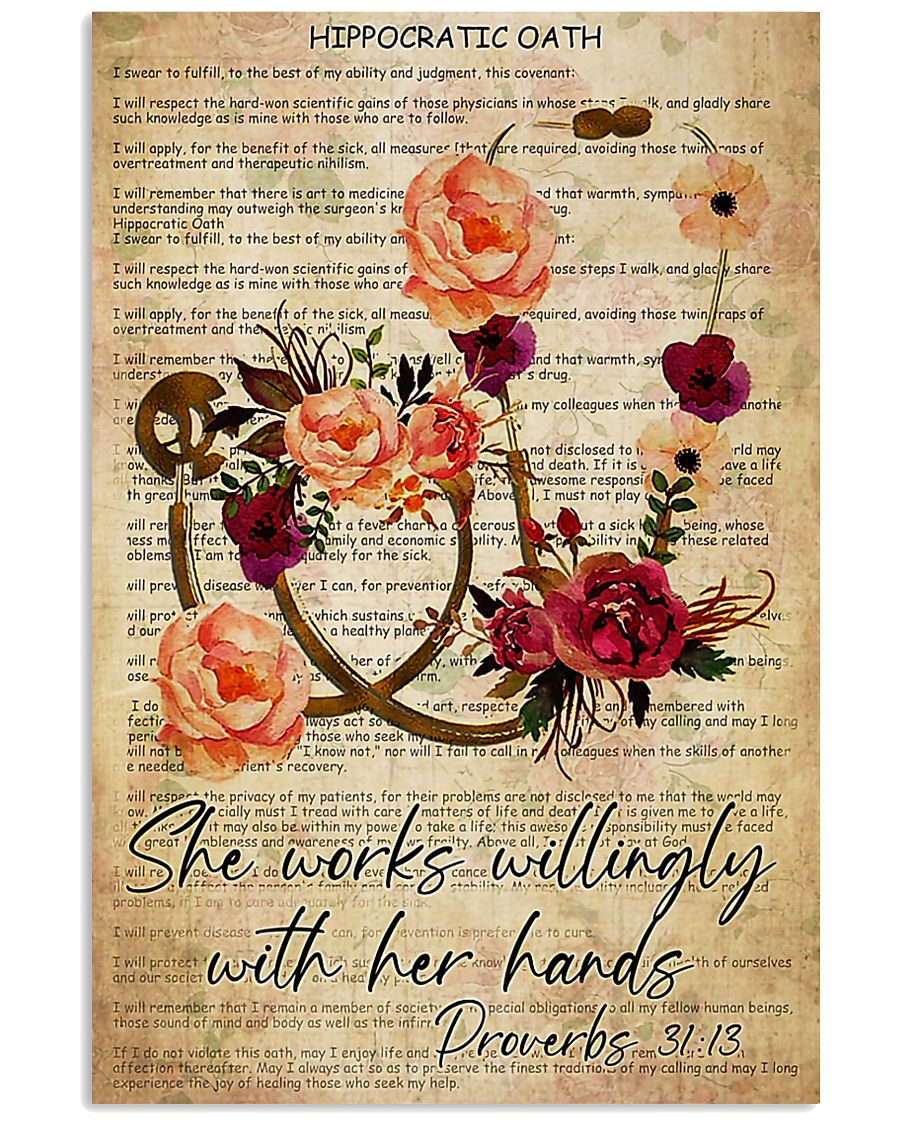 Physician Assistant She works willingly  11x17 Poster