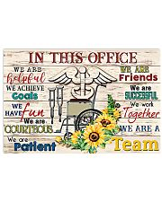 Occupational Therapists We Work Together 17x11 Poster front