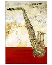 Saxophone Vintage Red Line 11x17 Poster front