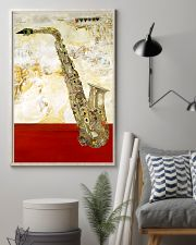 Saxophone Vintage Red Line 11x17 Poster lifestyle-poster-1