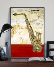 Saxophone Vintage Red Line 11x17 Poster lifestyle-poster-2