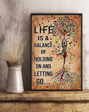 Yoga Life is a balance of holding on  11x17 Poster lifestyle-poster-3
