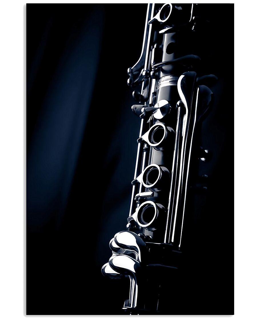 Clarinet Music Instrument  11x17 Poster