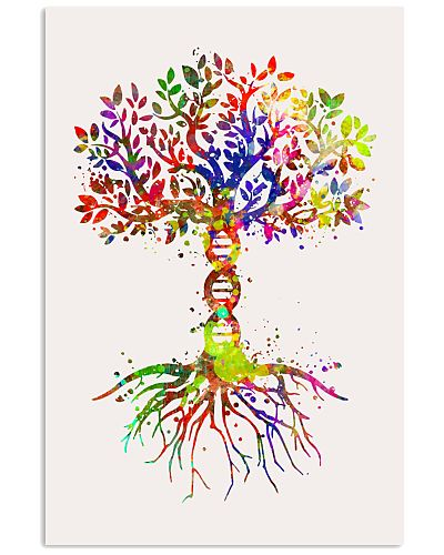 Science DNA Tree Poster