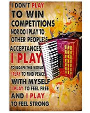 Accordionist I Don't Play To Win Competitions 11x17 Poster front