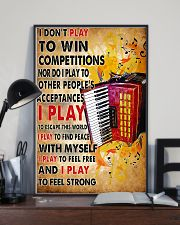 Accordionist I Don't Play To Win Competitions 11x17 Poster lifestyle-poster-2