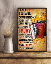 Accordionist I Don't Play To Win Competitions 11x17 Poster lifestyle-poster-3