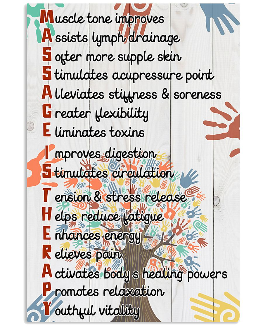 Massage Therapist Muscle tone improves 11x17 Poster