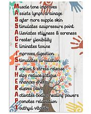 Massage Therapist Muscle tone improves 11x17 Poster front