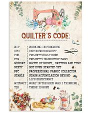 Quilter's Code Sewing 11x17 Poster front