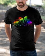 DJ Color Hand Classic T-Shirt apparel-classic-tshirt-lifestyle-front-50
