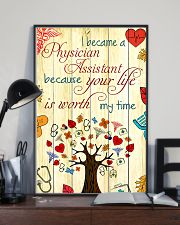 Physician Assistant Your Life Is Worth My Time 11x17 Poster lifestyle-poster-2
