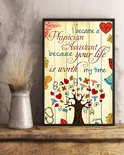 Physician Assistant Your Life Is Worth My Time 11x17 Poster lifestyle-poster-3
