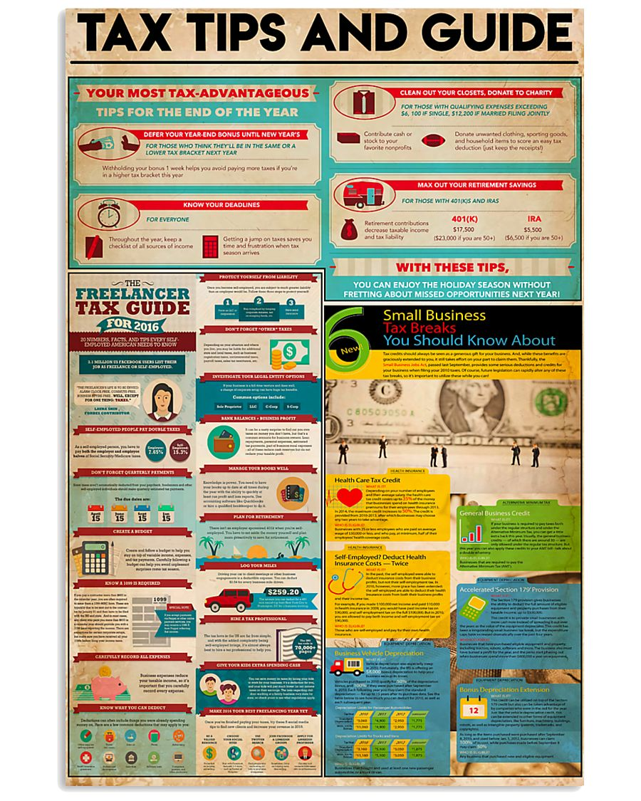 Accountant - Tax Tips And Guide 11x17 Poster