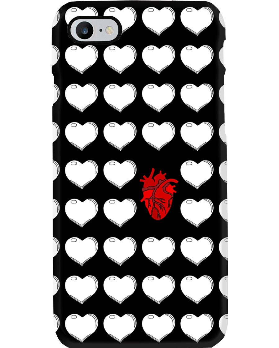 Red And White Heart Cardiologist Phone Case