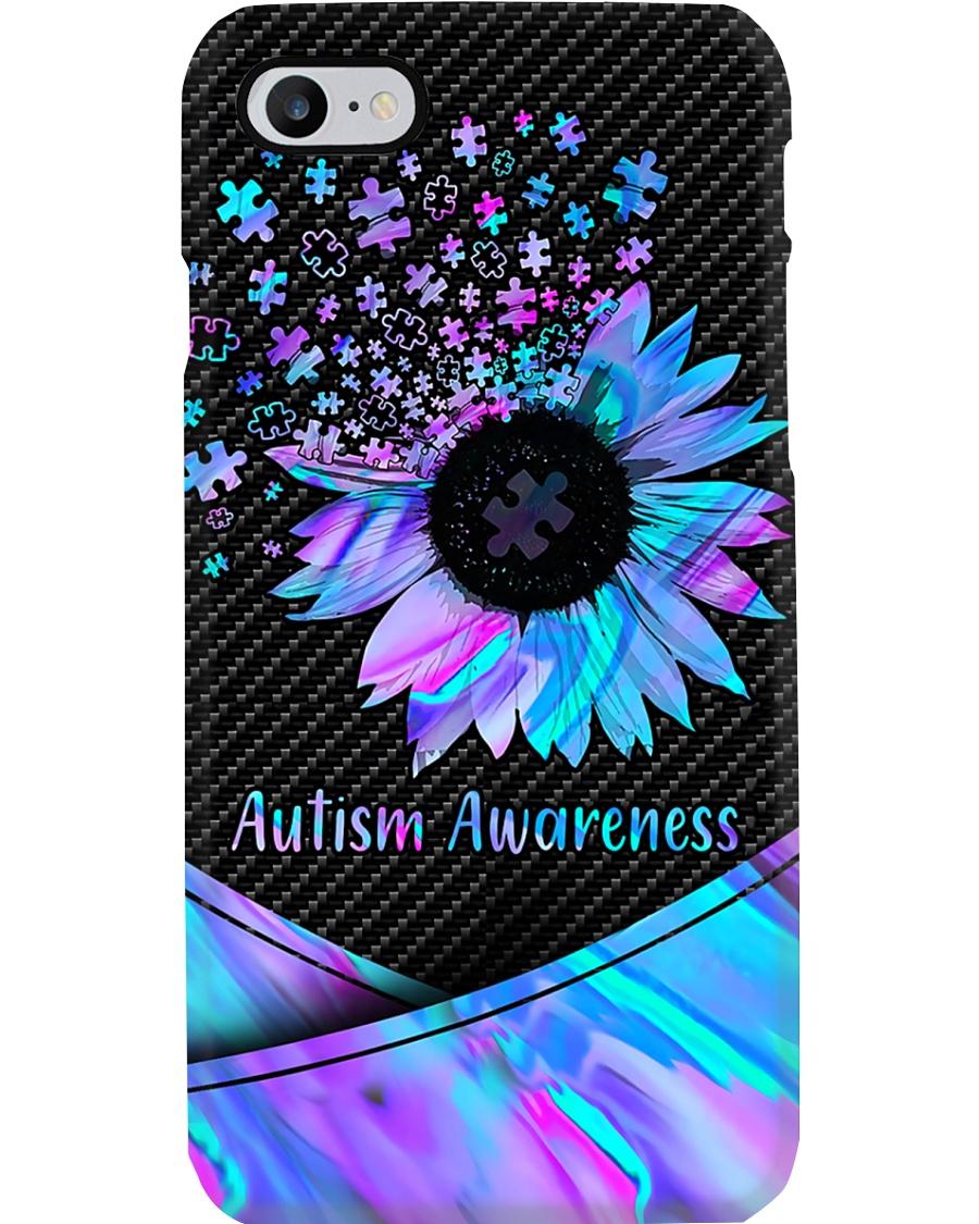 Autism Awareness Sunflower Pieces  Phone Case