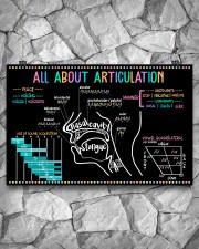 Speech Language Pathologist All About Articulation 17x11 Poster aos-poster-landscape-17x11-lifestyle-13