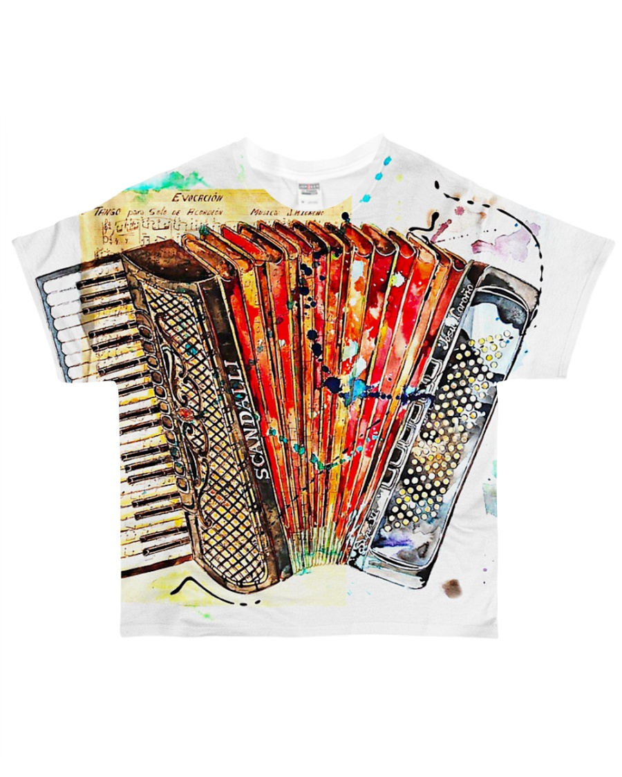 Accordion Gift For Accordionist All-over T-Shirt